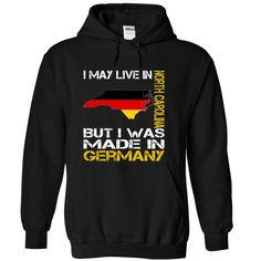 I May Live in North Carolina But I Was Made in Germany T-Shirts, Hoodies. CHECK PRICE ==► https://www.sunfrog.com/States/I-May-Live-in-North-Carolina-But-I-Was-Made-in-Germany-ckzdgjosij-Black-Hoodie.html?id=41382