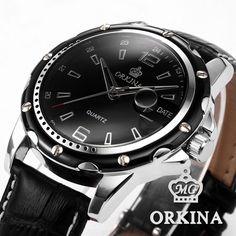 Male Clock Men Quartz Relogio Masculino Rolej Genuine Black Leather Strap Full Steel Case Fashion Casual Men Sport Watch US $18.99