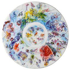 Collection Marc Chagall - Collection Marc Chagall - Coupe 36 cm - La coupole de l'Opéra Garnier / BERNARDEAU