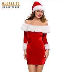 2016 Red Christmas Dress Women Adult Sexy Santa Claus Costume Off Shoulder Long Sleeve Mini Bodycon Pencil Dress With Velvet♦️ SMS - F A S H I O N  http://www.sms.hr/products/2016-red-christmas-dress-women-adult-sexy-santa-claus-costume-off-shoulder-long-sleeve-mini-bodycon-pencil-dress-with-velvet/ US $22.91