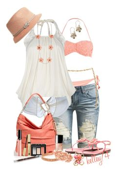 """""""Summer Dream in Peaches n' Cream"""" by kelley74 ❤ liked on Polyvore"""