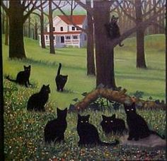 'Cat Country' , made by: Rosemary Margaret Daunis - Painting