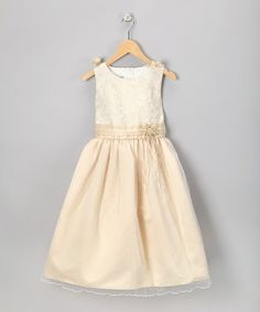 Take a look at this LA Sun Champagne Sleeveless Dress - Toddler & Girls by LA Sun on #zulily today!