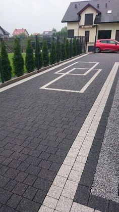 """Get great tips on """"patio pavers design"""". They are actually offered for you on our web site. Front Garden Ideas Driveway, Modern Driveway, Driveway Design, Driveway Landscaping, Modern Landscaping, Asphalt Driveway, Stone Driveway, Concrete Patio Designs, Paver Designs"""