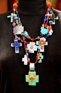 Kim Yubeta necklace - Futura Home Decorating Western Jewelry, Ethnic Jewelry, Boho Jewelry, Jewelry Art, Jewelery, Jewelry Design, Cross Jewelry, Stone Jewelry, Coral Turquoise