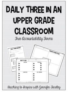 Daily Three Reading Centers in an Upper Elementary Classroom. Read about this teacher's reading centers and grab some FREE accountability forms.
