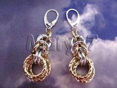 orecchini oro e argento