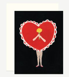 Girl Heart with Flowers