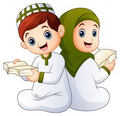 Islam Kids Special App Islamic Teachings contain Rhymes, Stories and Naaths from different sources at one place to help children with their moral building and development Couple Cartoon, Cartoon Kids, Cartoon Images, Girl Cartoon, Urdu Stories For Kids, Moral Stories For Kids, Couples Muslim, Muslim Girls, Dossier Photo