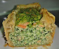Maryam's Culinary Wonders: 282. Smoked Salmon & Spinach Quiche