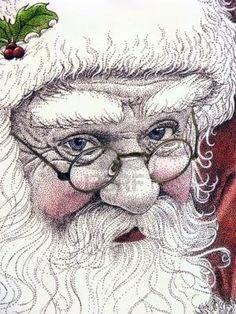 santa drawing - Google Search
