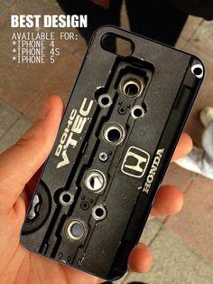 DOHC JDM Honda Vtec for iPhone 4 / 4s or 5 case cover, Black or White