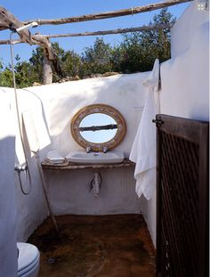 outdoor bathroom!! A RUSTIC HOUSE ON FORMENTERA | the style files