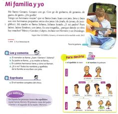 descrpcion familia Spanish Classroom Activities, Spanish Teaching Resources, Educational Activities, Spanish Worksheets, Spanish Vocabulary, Spanish Lessons Online, Family Theme, Spanish 1, Spanish Teacher