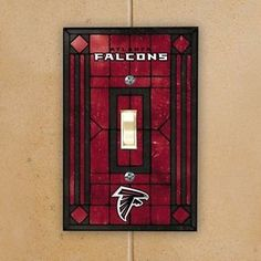 Atlanta-Falcons-Red-Art-Glass-Switch-Plate-Cover
