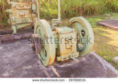 Phuket, Thailand - March 26, 2016: Old Blackstone Diesel engine for tin mining works demonstrated at Phuket Mining Museum, Thailand - stock photo