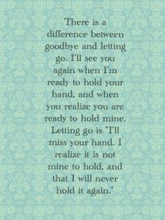 Letting go was the best decision