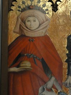 Love that brooch and belt. 15th c. houppelande? Research . . . .