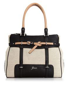 GUESS Handbag, Avera Canvas Medium Satchel