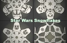 Free PDF Patterns for Star Wars Snowflakes