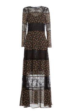 Bedrucktes Kleid aus Seide detail 0