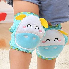 Baby Cotton Crawling Protector Knee Pads Kids Grils Boys Cartoon Thick Leg Warmers