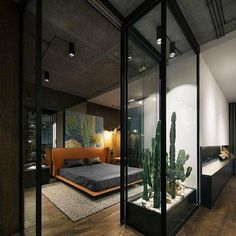 Loft by YoDezeen - Architecture and Home Decor - Bedroom - Bathroom - Kitchen And Living Room Interior Design Decorating Ideas - Small Apartment Bedrooms, Apartment Bedroom Decor, Small Apartments, Bedroom Loft, Apartment Interior, Apartment Design, Apartment Ideas, Apartment Styles, Home Bedroom