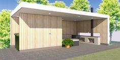 lounge tuinhuis met berging | Boekema Advies