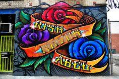 Street Art ~ Seventh & Santa Fe ~ Los Angeles