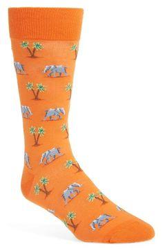 Hot Sox 'Elephant & Palm Tree' Socks