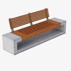 Max Street Bench - 3D Model