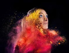 BTS: Shooting Portraits of Models Being Hit with Colorful Powder pigments 2