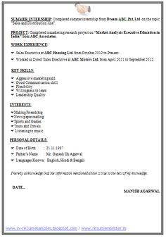 Example Of Resume Templates (Page 2)