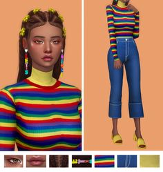 sims e-girl: sims e-girl: Photo eyeshadow – lips – hair – earrings – undershirt – top – pants – shoes sayiojrw aqenaua WEKSCIMAS AEKEY Mel Plnt Deetron Smith-sims Kari Ecklund-sims Lil Kimmie - The Sims 4 Pc, Sims 4 Mm Cc, My Sims, Maxis, Sims 4 Game Mods, Sims Mods, The Sims 4 Cabelos, Sims 4 Characters, Sims4 Clothes