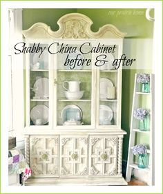 Dainty china cabinet... neeeed one of these for all my china!