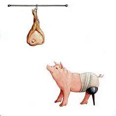 Choose compassion over killing.Go vegan (Artist: Vanni Cuoghi) Vegan Memes, Vegan Quotes, Vegan Facts, Go Veggie, Why Vegan, Stop Animal Cruelty, Animal Testing, Vegan Animals, Vegan Lifestyle