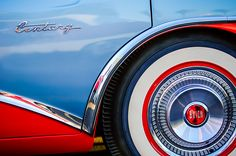 1956 Buick Century Wheel - Car Images by Jill Reger