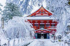 Natadera Temple in winter, Japan
