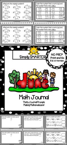 Are you looking for a NO PREP math activity for preschool, kindergarten, or first grade?  Then enjoy this math journal which is comprised of THIRTY SUMMER themed MATH JOURNAL PROMPTS. The journal prompts can be used for guided math, math centers, independent work, buddy work, and homework.  The journal pages can be chosen by the teacher to best meet the needs of the student and assembled into a journal with the provided cover. This resource is perfect for summer school or end of year review.