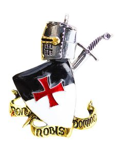 The Knights Templar stood for bravery and chivalry, Non Nobis Domine was their motto and counsels individual humility and compassion as glory is not for the self, it is for Higher Beings. The Templar sword, helmet and shield along with the legendary Templar motto may bring the wearer attributes of Bravery, Chivalry and Selflessness.