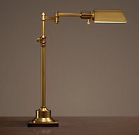 Restoration Hardware Library Task Table Lamp In Antique
