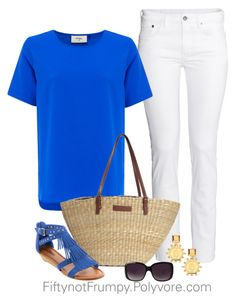 """""""Shine"""" by fiftynotfrumpy ❤ liked on Polyvore featuring H&M, PYRUS, Seafolly, Merona, Minnetonka and Tory Burch"""