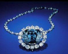 Hope Diamond...45.52-carat deep-blue diamond, world's largest blue diamond at the Smithsonian.
