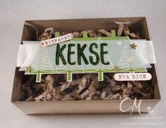 Weihnachts{wahn}Sinn Adventskalender Blog Hop. Geschenkbox für selbstgemachte Kekse, Layered Letters, Christbaumfestival, Stampin' Up! #CarosBastelbude carosbastelbude.wordpress.com
