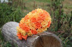 cascade paper bouquet bridesmaids bouquet by FlowerDecoration