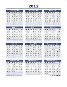 New  Yearly Calendar Reverse Design From VertexCom