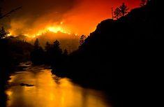 Looks like the sky is on fire.
