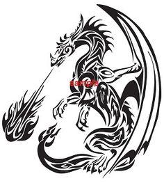 Flame dragon cross stitch pattern - Google Search