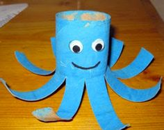 Crafts~N~Things for Children: Toilet Paper Roll Octopus Craft - One could take tissue paper of the same color and add little treats to make these into party favors. Wrap the treats up in the tissue paper and stuff inside the octopus. Kids Crafts, Easy Toddler Crafts, Recycled Crafts Kids, Daycare Crafts, Craft Projects For Kids, Summer Crafts, Activities For Kids, Craft Ideas, Easy Crafts
