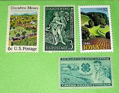 Green Acres .. Unused Vintage Postage Stamps .. Enough to mail 5 letters. $5.00, via Etsy.